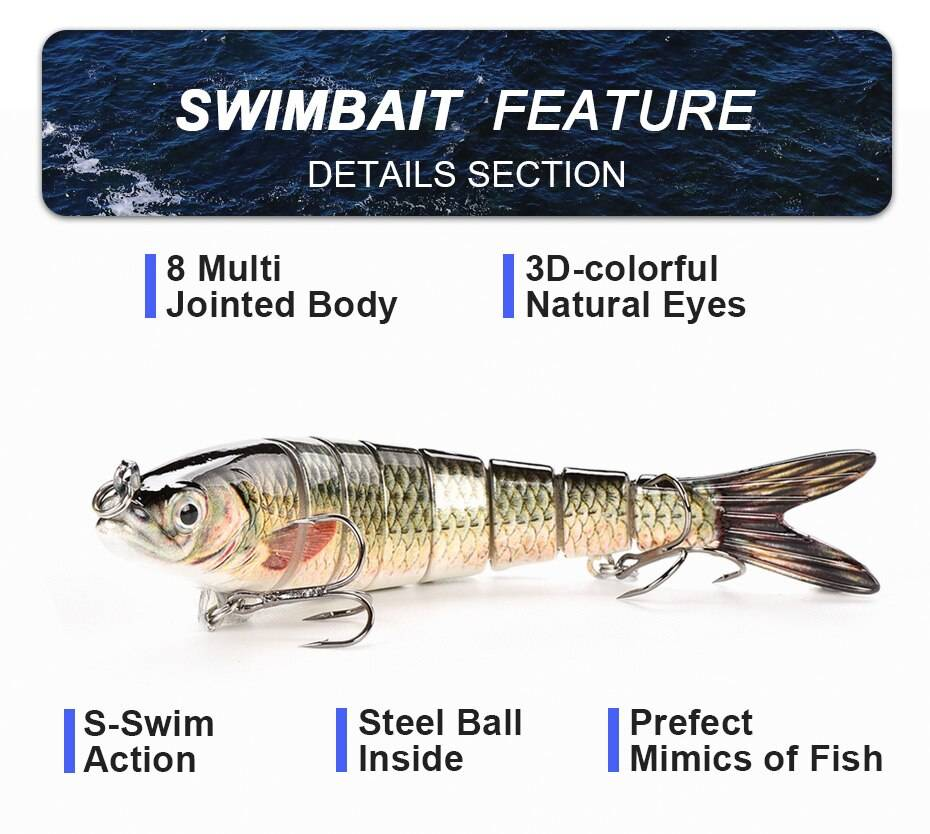 Moving Segmental Fishing Lure
