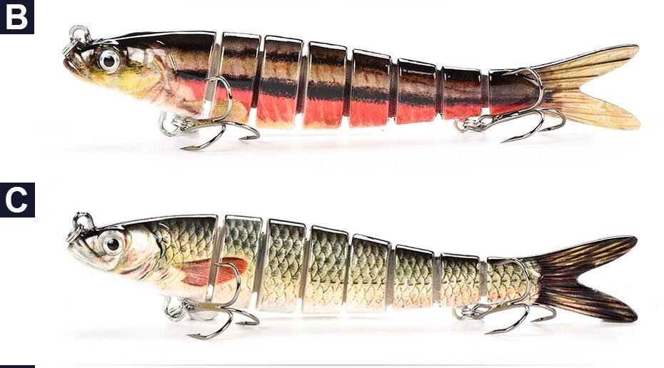 Moving Segmental fishing lures eyes