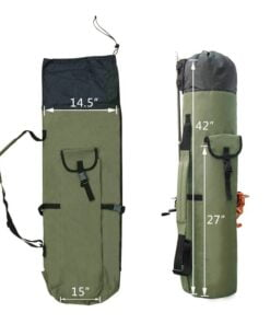 Fishing Portable Nylon Fishing Bag Fishing Bags cb5feb1b7314637725a2e7: Black Green