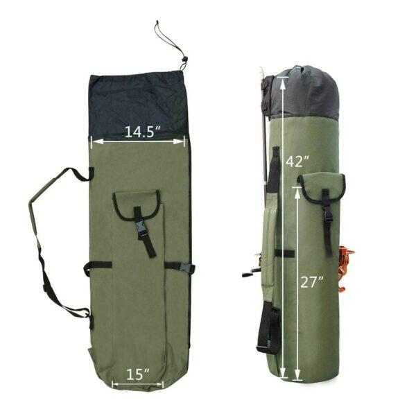 Fishing Portable Nylon Fishing Bag Fishing Bags cb5feb1b7314637725a2e7: Black|Green
