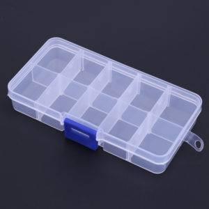 Waterproof Eco-Friendly Plastic Fishing Tackle Box Fishing Accessories Fishing Tackle Boxes cb5feb1b7314637725a2e7: Black|White