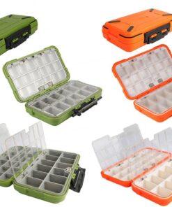 Colorful Double Layer Fishing Lure Box Fishing Accessories Fishing Tackle Boxes cb5feb1b7314637725a2e7: Black S|Green L|Grey M|Orange L|Orange M|Orange S