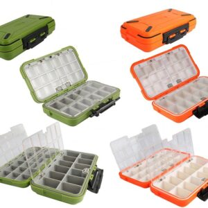 Colorful Double Layer Fishing Lure Box Fishing Accessories Fishing Tackle Boxes cb5feb1b7314637725a2e7: Black S|Green L|Grey M|Orange L|Orange M|Orange S