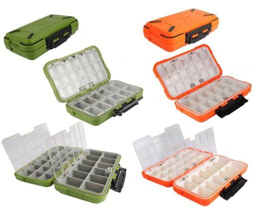 Colorful Double Layer Fishing Lure Box Fishing Accessories Fishing Tackle Boxes cb5feb1b7314637725a2e7: Black S Green L Grey M Orange L Orange M Orange S