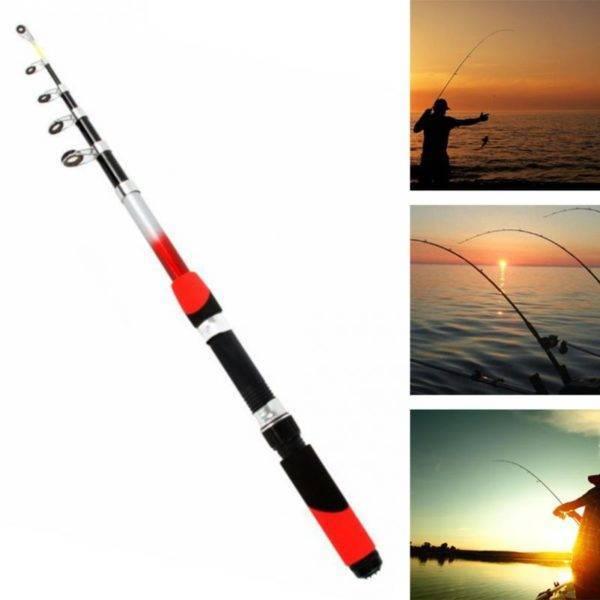 Portable Telescopic CNC Aluminum Fishing Spinning Rod Fishing Rods 2fa47f7c65fec19cc163b1: 1.8 m / 39.37 inch|2.1 m / 78.74 inch|2.4 m / 94.48 inch|2.7 m / 106.3 inch|3.0 m / 118 inch