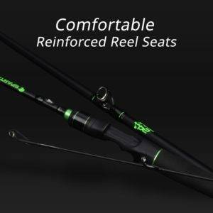 Carbon Body Casting Fishing Rod with 2 Rod Tips Fishing Rods cb5feb1b7314637725a2e7: Grass Green|Mellow Yellow|Rage Red|Sword Silver