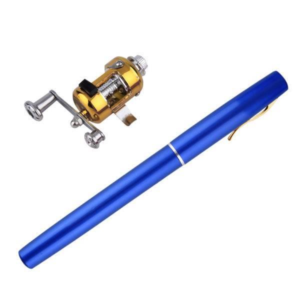 Cute Compact Pen Shaped Aluminum fishing rod combo