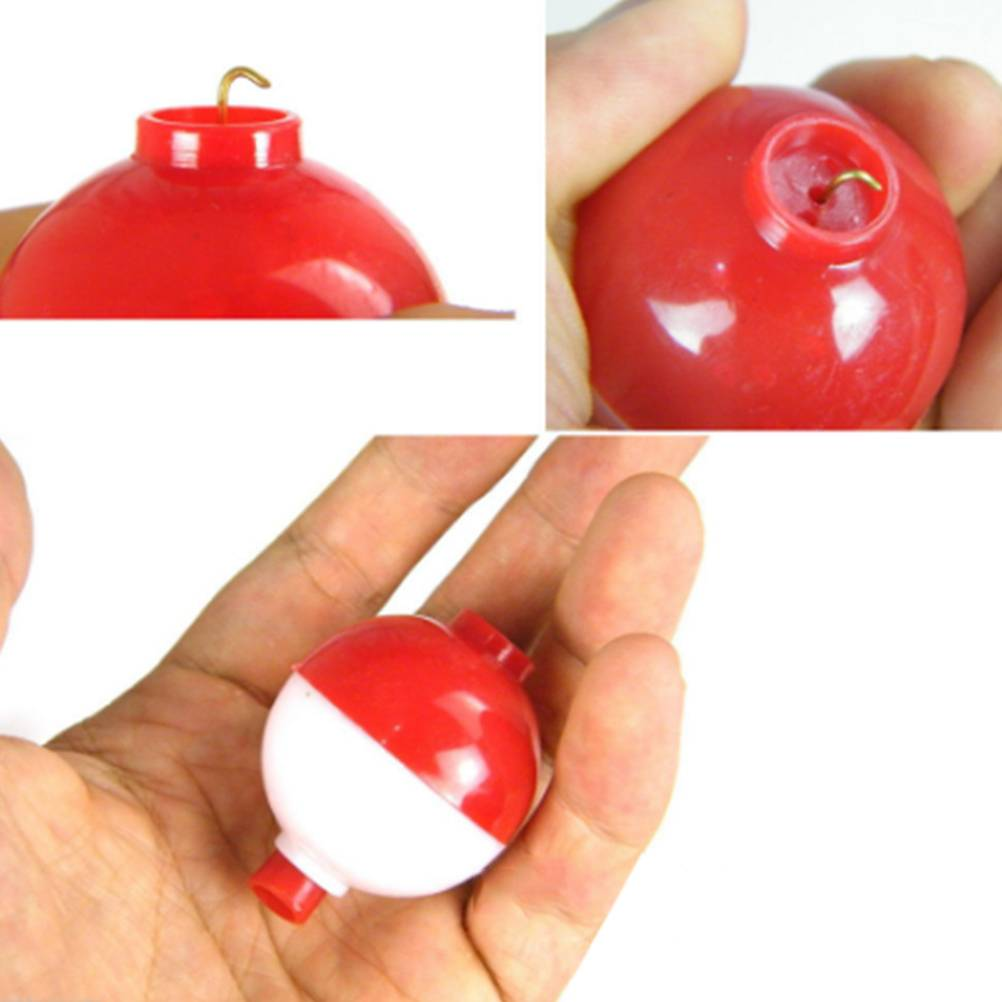 Mini White and Red Fishing Floats Set
