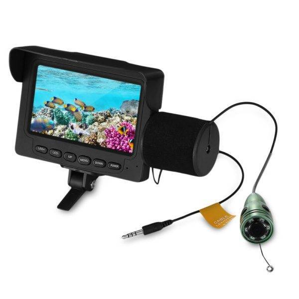 Rechargeable Wired Camera Fish Finder Fishing Accessories d0b8ef7380dd90af0eb252: IR|White